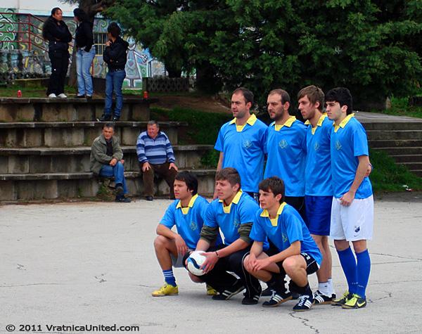 Regular photo shooting before the 1st round tournament games: Belovishte football team