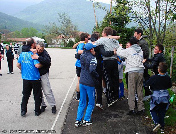 Belovishte team celebration