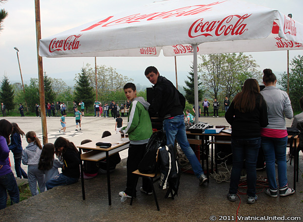 At the DJ booth with Dejan and Jovica ('VRATNICA 2011' Mayday Tournament)