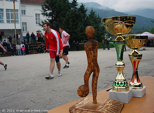 Some of the prizes at 'VRATNICA 2011' tournament