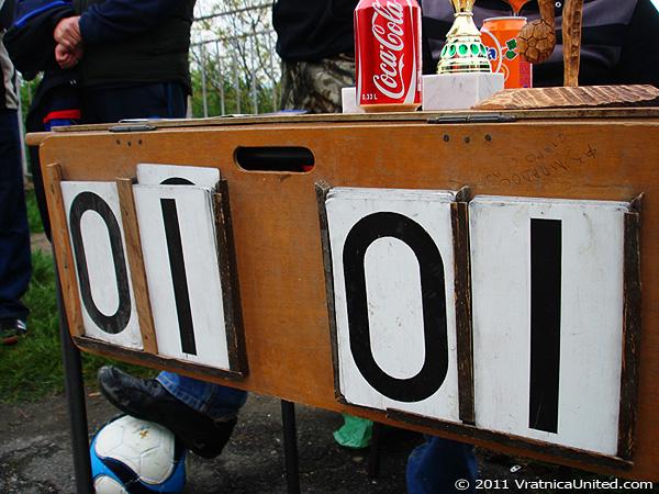 Scoreboard: Tied match at 'VRATNICA 2011'