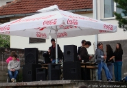 DJs and the sound system at 'VRATNICA 2011' tournament