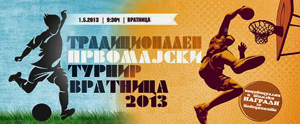 Vratnica 2013 Traditional Mayday Tournament - Poster
